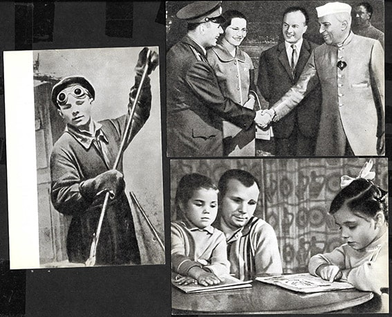 Юрий гагарин открытки 1969 год