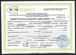 """Свидетельство акционера """"МММ-ИНВЕСТ"""". 8 сентября 1993 г."""