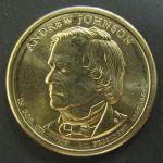 США. 1$. 17-й президент Эндрю Джонсон 1865-1869