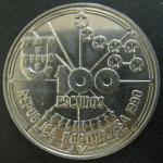 Монета. Португалия. 1990 г. 100 эскудо