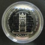 Канада. 1 доллар. 1977 г. Трон