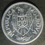 Монета 25 баней 2008 года. Молдавия