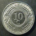 Монета Нидерланды Антиллен 10 С 2008 г.