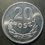 Монета. 20 грошей. 1980 год. Польша