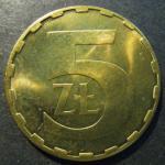 Монета 5 злотых 1988 года . Польша