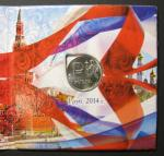 1 рубль 2014 г. Официальный знак рубля в буклете