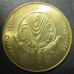 Словения. 5 толаров 1995 год. 50 лет FAO