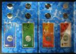 Набор монет. 25 рублей России 2011 - 2014 гг. и с монетами с цветной эмалью (Олимпиада в Сочи 2014 г.) в обложке