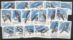 Набор спичечных этикеток. Певчие птицы. 1966 год. 18 штук