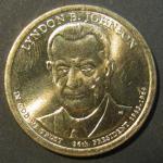 1 доллар США. 36 президент - Линдон Джонсон 1963-1969 гг.