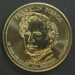 США. 1$. 14-й президент Франклин Пирс
