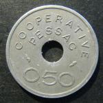 Франция ТОКЕН КООПЕРАТИВ PESSAC 0.50 сантимов 1920 год