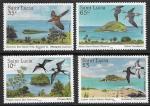 Сент-Люсия 1985 г. Птицы, Охрана природы, 4 марки
