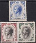 Монако 1964 год. Князь Ренье III. 3 марки