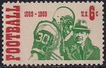 США 1969 год. 100 лет национальной футбольной лиги чемпионов. 1 марка. наклейка