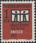 ЧССР 1972 год. ЮНЕСКО. Международный день книги. 1 марка