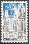 Франция 1975 год. Стандарт. Туризм. Собор в Сен-Поль-де-Леон, 1 марка