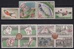 """Монако 1963 год. 100 лет Британскому футбольному Союзу. Французский футбольный клуб """"AS Монако"""". 4 марки + 2 квартблока"""