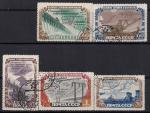 СССР 1951 год. Стройки коммунизма. Гидроэлектростанции. 5 гашёных марок