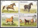 Уругвай 2006 год. Лошади (370.2928). 4 марки