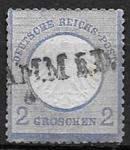 Германия 1872 год. Стандарт. Орел. Телер. 1 гашеная марка