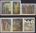 Румыния 1970 год. Фрески молдавских монастырей. 6 марок