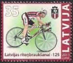 Латвия 2011 год. 125 лет велоспорту в Латвии (196.419). 1 марка