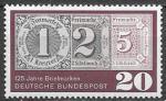 ФРГ 1965 год. 125 лет почтовой марке, 1 марка