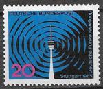 ФРГ 1965 год. Выставка немецкого радио в Штутгарде, 1 марка