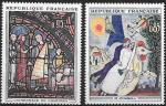 Франция 1963 год. Картины и витражи, 2 марки