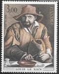Франция 1980 год. Картина Луи Ленена, 1 марка