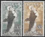 Испания 1963 год. Европа СЕПТ. Богоматерь, 2 марки