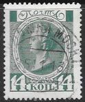 Россия 1913 гг. Екатерина II, 14 коп., 1 гашеная марка. (разные гашения)