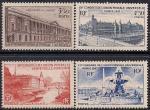Франция 1947 год. Всемирный Почтовый Конгресс в Париже. Виды города. 4 марки с наклейкой