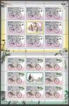 Россия 2008 год, Памятники науки и техники. Велосипеды, 4 листа