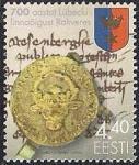 Эстония 2002 год. Печать и герб города Везенберг. 1 марка