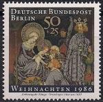 ФРГ (Берлин) 1986 год. Рождество. 1 марка
