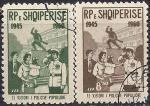Албания 1960 год. 15 лет Народной полиции Албании. 2 гашёные марки