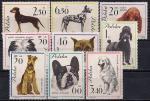 Польша 1963 год. Породы собак. 9 марок с наклейкой