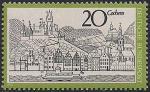 ФРГ 1970 год. Город Кохем. Вид с реки Мозель. 1 марка