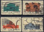 Китай 1960 год. Открытие национальной сельскохозяйственной выставки в Пекине. 4 гашеные марки
