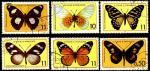 Сан-Томе и Принсипи 1979 год. Бабочки. 6 гашеных марок
