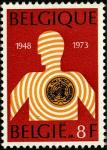 Бельгия 1973 год. 25 лет Всемирной организации здравоохранения. 1 марка