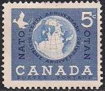 Канада 1959 год. 10 лет НАТО. 1 марка