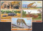 Буркина Фасо 2019 год. Африканская фауна. 5 гашеных марок