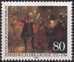 ФРГ (Берлин) 1986 год. 200 лет со дня смерти художника Адольфа фон Менцеля. 1 марка