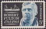 США 1965 год. 200 лет со дня рождения изобретателя парохода Роберта Фултона. 1 марка