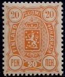 Русская Финляндия 1889-1892 год. Марка 20 пенни