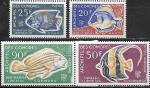 Коморские о-ва 1968 год. Местные рыбы, 4 марки
