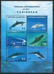 Антигуа и Барбуда 2010 год. Киты и дельфины, малый лист